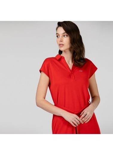Lacoste Kadın Kısa Kollu Elbise EF0005.05K Kırmızı